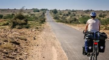 Cycling through the desert, Rajasthan