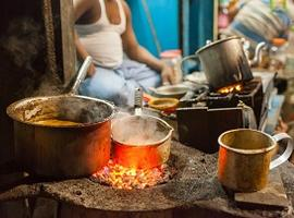 Tea on stove, India