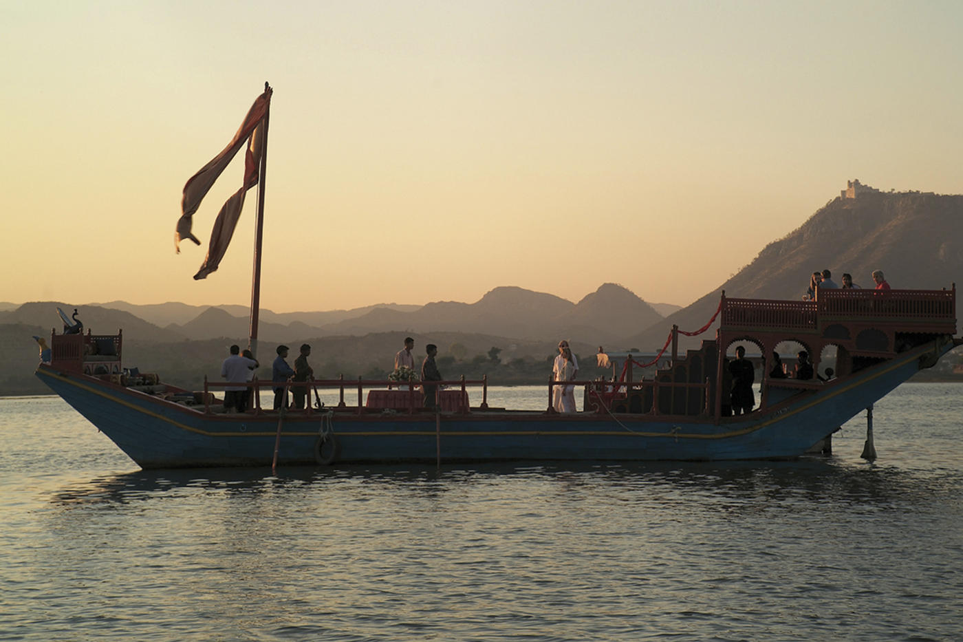 Boat transfer, Taj Lake Palace