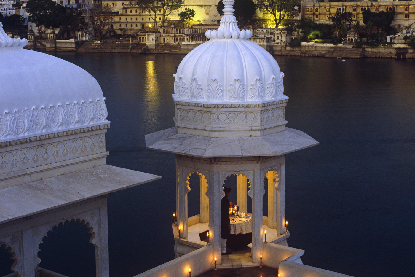 Private dining, Taj Lake Palace