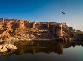 Zip-lining in Rajasthan