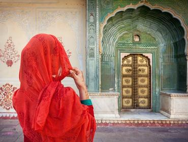 Woman in City Palace, Jaipur