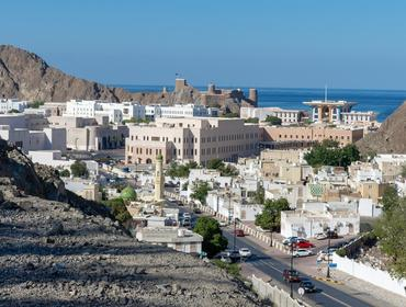 A view looking into Old Town, Muscat