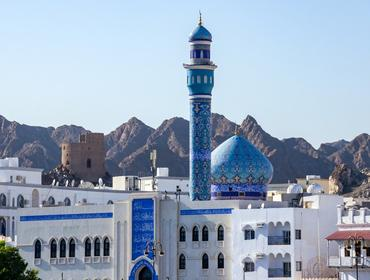 Blue Dome and Minaret of Mutrah Mosque, Muscat