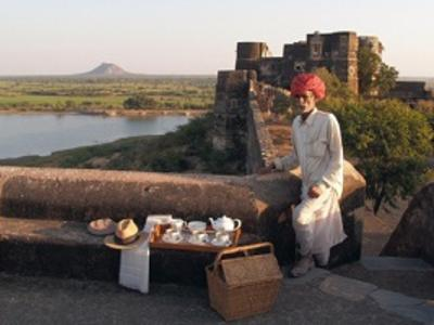 Sundowner at Shahpura Bagh - the best heritage hotel in India